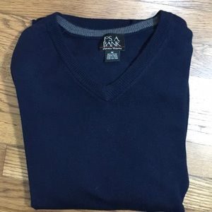 Jos. A. Bank Sweaters - NEW Men's Navy Wool Pullover Sweater